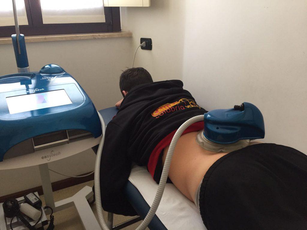 Terapia con Ipetermia su un giocatore della Volley Tonno Callipo